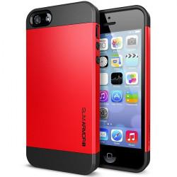 Iphone 5, pouzdro na mobil Spigen slim Armor, červené, 1ks