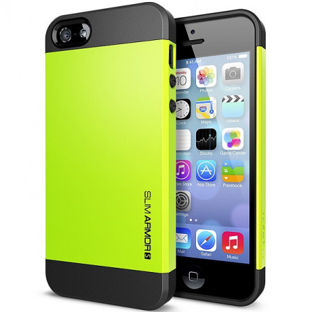 Iphone 5, pouzdro na mobil Spigen slim Armor, zelené 1ks