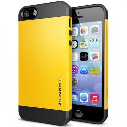 Iphone 5, pouzdro na mobil Spigen slim Armor, žluté, 1ks