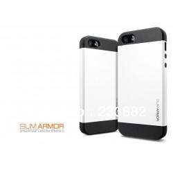 Iphone 5, pouzdro na mobil Spigen slim Armor, bílé, 1ks
