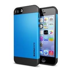 Iphone 5, pouzdro na mobil Spigen slim Armor, světle modré, 1ks