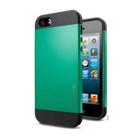 Iphone 5, pouzdro na mobil Spigen slim Armor, zelené, 1ks