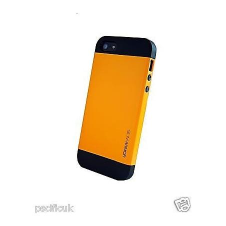 Iphone 4, pouzdro na mobil Spigen slim Armor,oranžové , 1ks