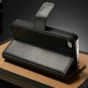 Iphone 4, pouzdro na mobil kožené Butiko, černé 1ks