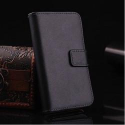 Iphone 4, pouzdro na mobil kožené Butiko, černé, 1ks