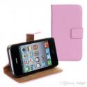 Iphone 4, pouzdro na mobil kožené Butiko, hnědé, 1ks