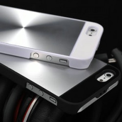 Iphone 5, pouzdro na mobil Butiko luxury, kov CD design, bílé 1ks