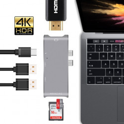 USB-C HUB pro Mac Apple 5v1 USB-SD-Micro SD-HDMI-USB-C